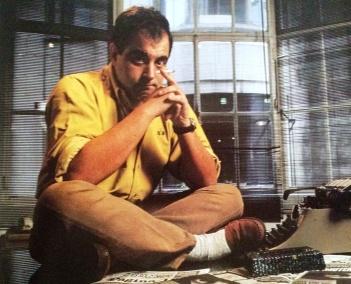 """El joven Lanata En 1994 abandonó la dirección de su diario """"Página 12"""" y se puso a hacer un programa de FM por las mañanas. Así lo retrató Cabezas."""