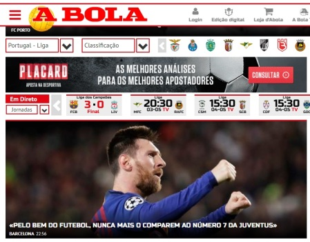 """A Bola"" -Portugal"