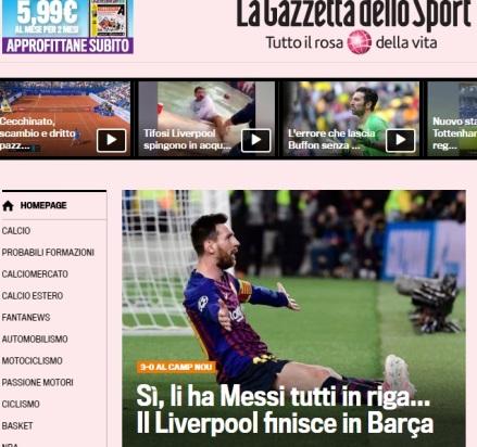 """""""LaGazzettadelloSport"""" -Italia"""