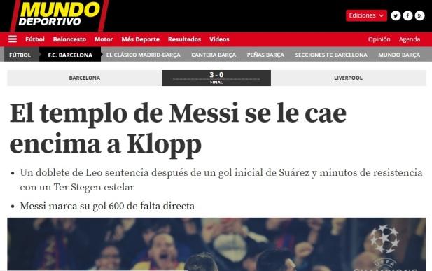 """MUNDO DEPORTIVO"" -España"