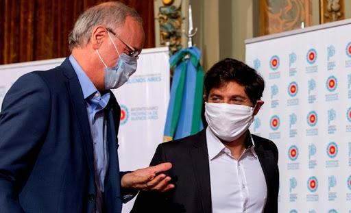 El ministro de Salud Gollan junto al gobernador de la provincia de Buenos Aires, Axel Kicillof